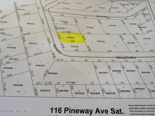 116 PINEWAY- SATSUMA- FLORIDA 32189, ,Vacant land,For sale,PINEWAY,898486