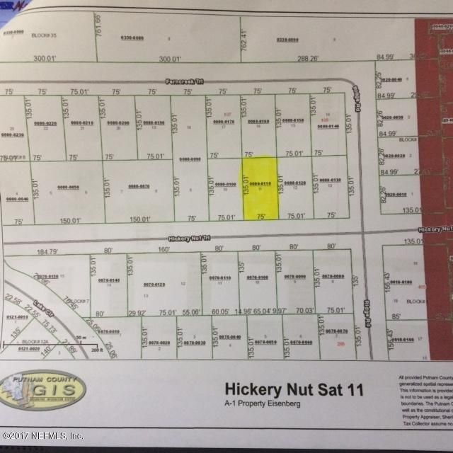 504 HICKORY NUT- SATSUMA- FLORIDA 32189, ,Vacant land,For sale,HICKORY NUT,898330