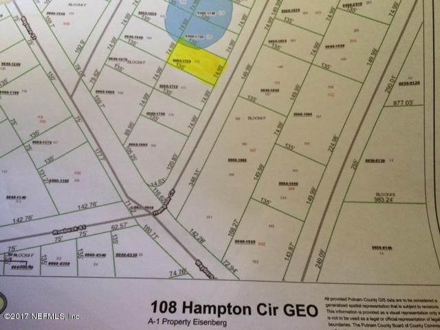 108 HAMPTON, GEORGETOWN, FLORIDA 32139, ,Vacant land,For sale,HAMPTON,898352