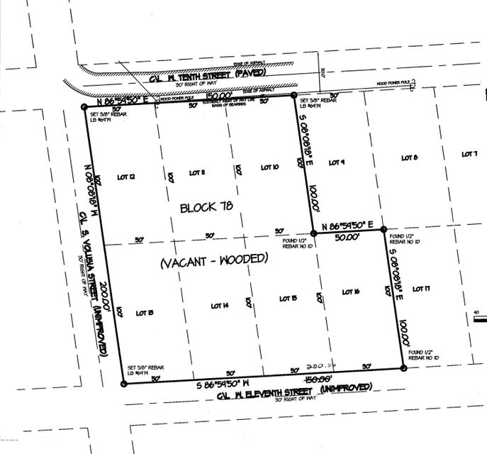 850 VOLUSIA, ST AUGUSTINE, FLORIDA 32084, ,Vacant land,For sale,VOLUSIA,912407