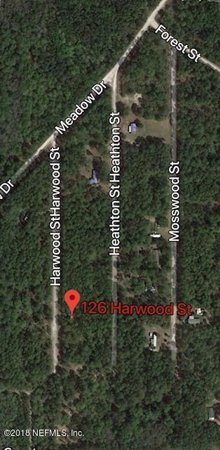 126 HARWOOD, GEORGETOWN, FLORIDA 32139, ,Vacant land,For sale,HARWOOD,915197