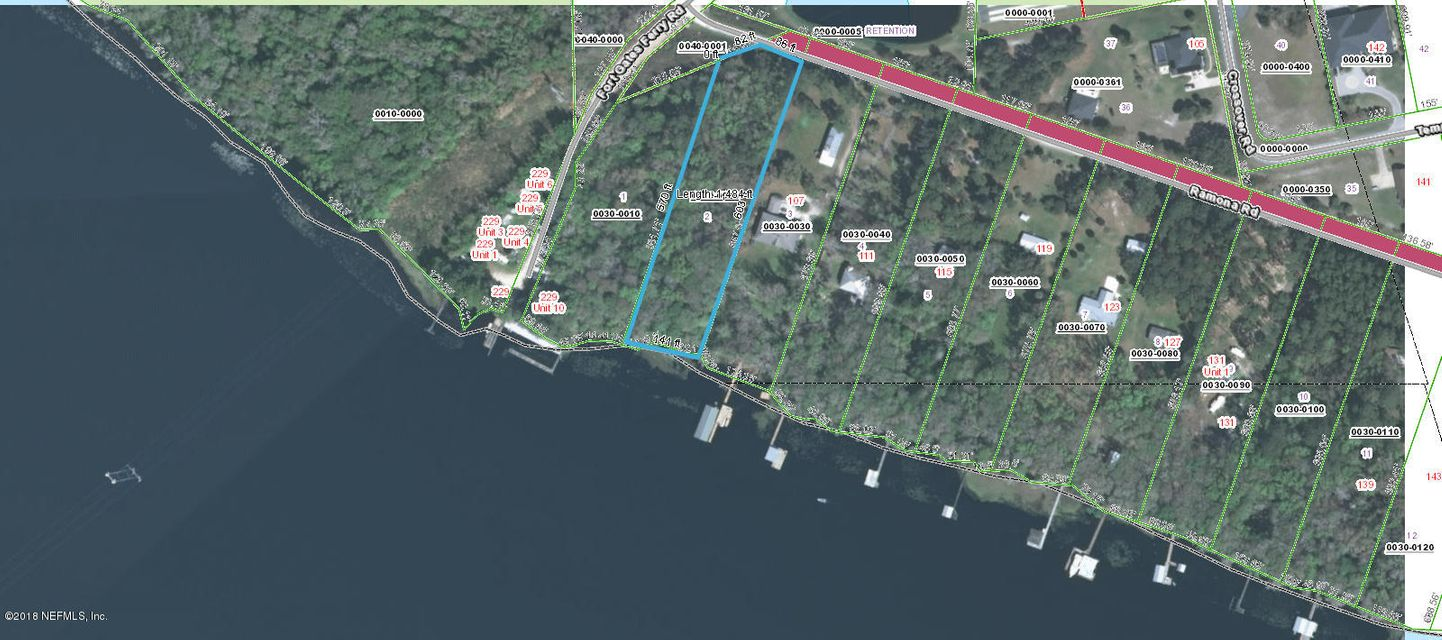 105 RAMONA, CRESCENT CITY, FLORIDA 32112, ,Vacant land,For sale,RAMONA,924747