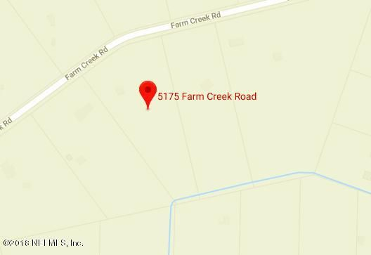 5175 FARM CREEK, ST AUGUSTINE, FLORIDA 32092, ,Vacant land,For sale,FARM CREEK,938537