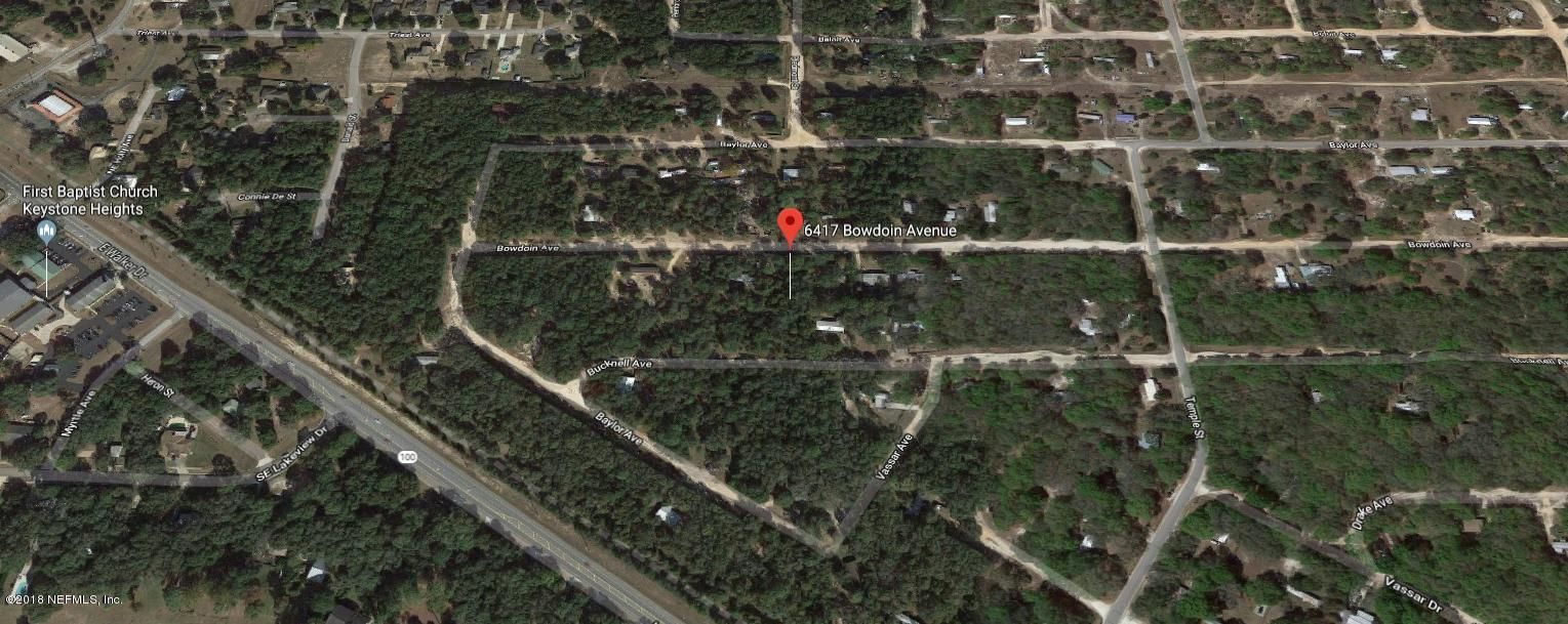 6417 BOWDOIN, KEYSTONE HEIGHTS, FLORIDA 32656, ,Vacant land,For sale,BOWDOIN,945648