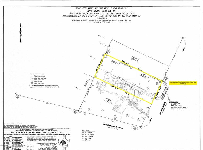 4040 ALCAZAR, JACKSONVILLE, FLORIDA 32207, ,Vacant land,For sale,ALCAZAR,946382
