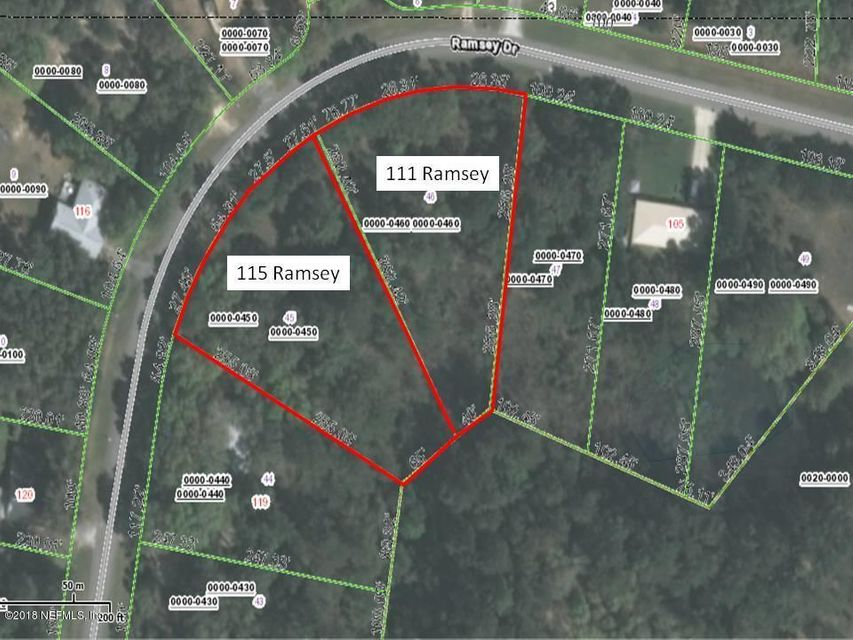 115 RAMSEY, MELROSE, FLORIDA 32666, ,Vacant land,For sale,RAMSEY,947886