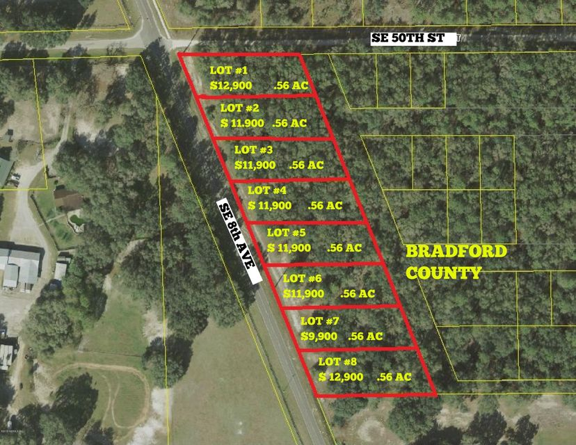 LOT # 5 21B / 8TH- KEYSTONE HEIGHTS- FLORIDA 32656, ,Vacant land,For sale,21B / 8TH,873613