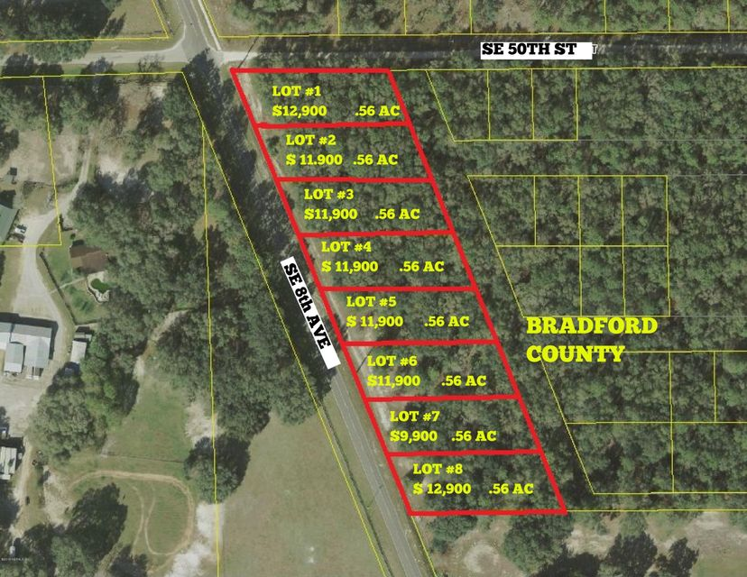 LOT # 8 21B / 8TH, KEYSTONE HEIGHTS, FLORIDA 32656, ,Vacant land,For sale,21B / 8TH,873616