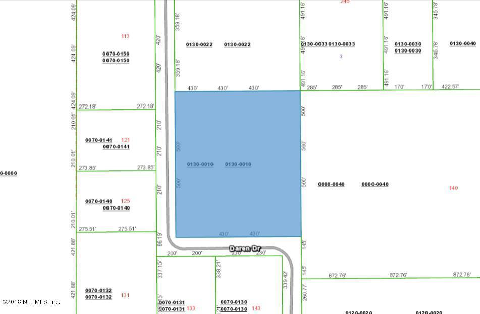 0 DAREN, PALATKA, FLORIDA 32177, ,Vacant land,For sale,DAREN,952271