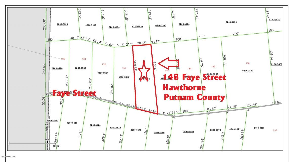148 FAYE, HAWTHORNE, FLORIDA 32640, ,Vacant land,For sale,FAYE,952754