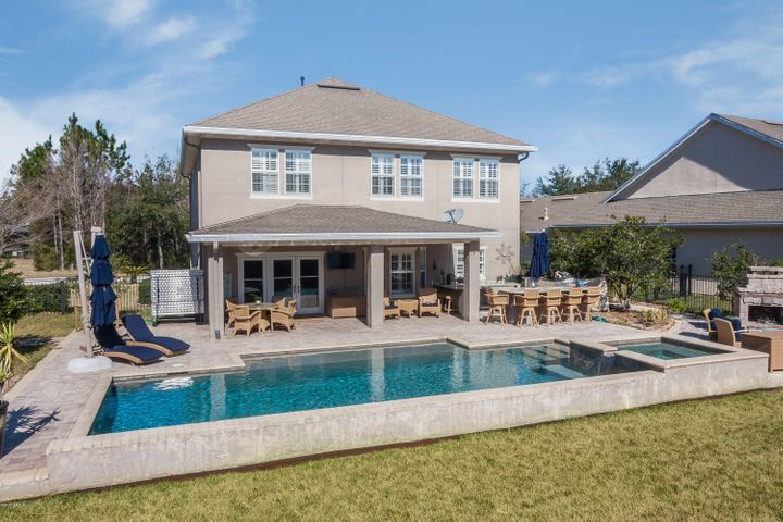 Automated Pool, Summer Kitchen, Covered Lanai, Fireplace area