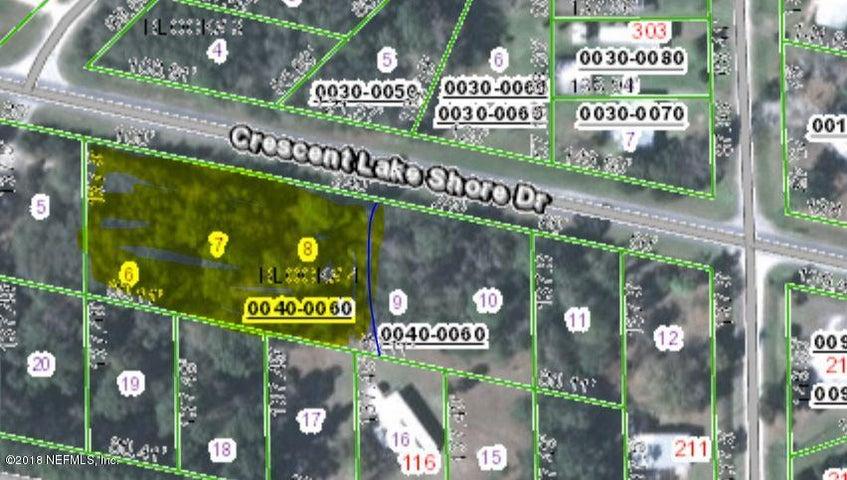 LOTS 6,7,8 CRESCENT LAKE SHORE DR., CRESCENT CITY, FL 32112