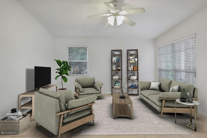 Living area staged