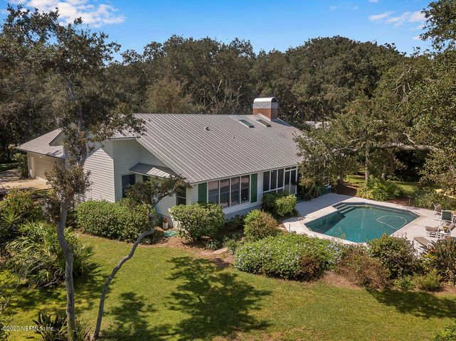 Aerial View of back of home with beautiful pool