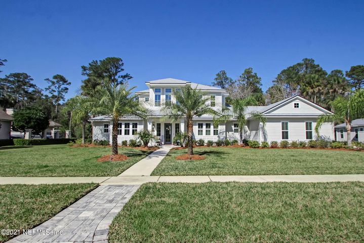 Beautiful Coastal home built in 2018 on almost half an acre in gated community in Ponte Vedra Beach