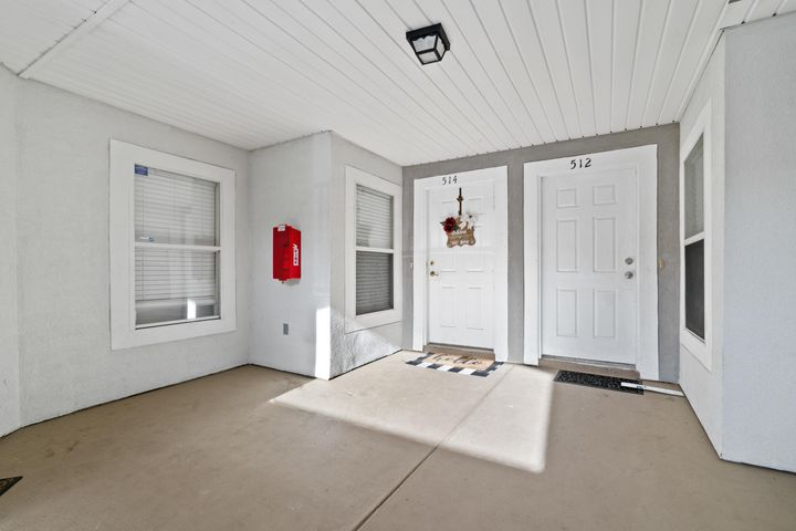 Covered front porch entry