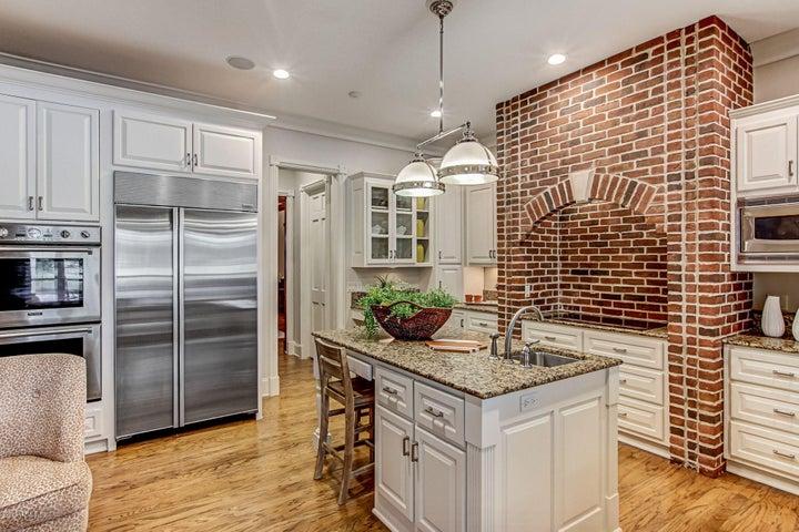 Brick surround stove