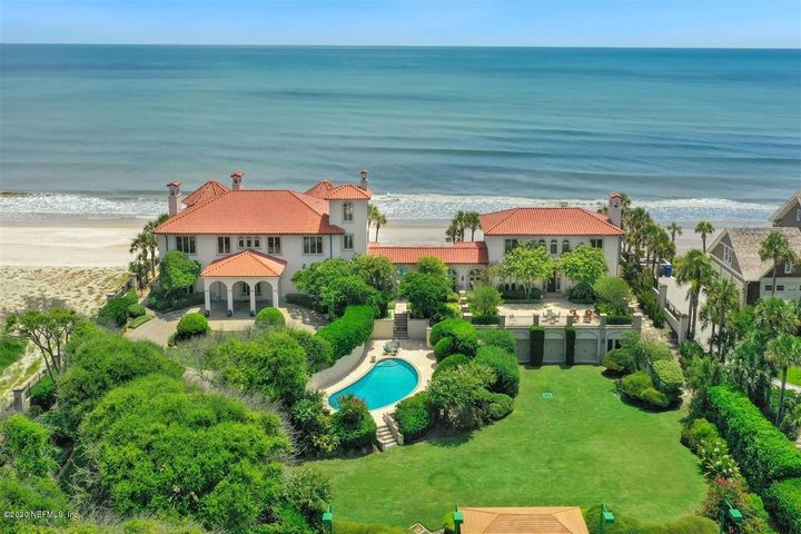 Iconic Oceanfront Living! Endless, stunning ocean & waterway to Guana Preserve views surround this exquisite, ocean front estate built on  incredible 200' x 430' private lot w/sea wall & a gated, stone circular driveway.This one of a kind property offers a main house, gallery, guest house, 2 pools, tennis ct, tennis house &  oversized 3 car garage. The main house features a port-cohere at entrance & a dramatic 2 story foyer, limestone stairs w/iron & brass railings, and 3 living rooms.  Light & open kitchen. 2-br suites down, lux master suite, family room & 2 other bedrooms up.  Plus tower room (highest residential elevation in P.V.) The spectacular gallery connecting the main house w/ guest house is the perfect spot for panoramic views of ocean, pools, & tennis court. See more  for info. Surround sound inside and outside. All fireplaces inside are gas and the outside fireplace is wood. Two laundry rooms. 400' deep well with a purification system. Pools and Hot Tub are gas heated.  The guest house is a favorite spot for entertaining guests & relaxing w/ 2 living rooms, 2 bedroom suites upstairs w/ cathedral painted wood ceilings. Fire pit with oceanside deck and private walkover to the beach.  See attached list for more detail.