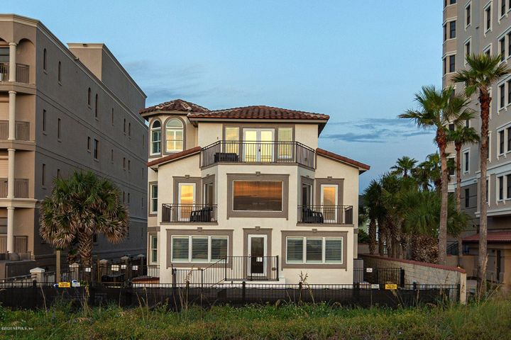 Outstanding oceanfront opportunity in Jacksonville Beach! The home was completely re-built in 2000 except for basement. Truly unique opportunity for someone looking to live at the beach but who could also have rental property with a tremendous revenue stream. New owner can move in to one of the units and/or continue to rent either. Very well thought out floor plan! The lower level has 3 beds/3 baths (approx. 2500sf) & the upper house has 2 levels - the main level has 3 beds/2 baths (approx. 2400sf) & the 3rd level (approx. 1255sf) has a loft, sitting area and tower off the owner's suite with 2 walk-in closets & bathroom & a large balcony w/French doors. A stunning property with excellent opportunity. Must see!