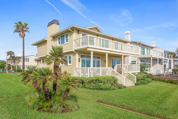 Oceanfront treasure you have been seeking. Totally and completely renovated and updated. Enjoyed for many years by family members as 2nd home. Ready to pass on for your enjoyment! Open floor plan is spacious enough for large gatherings. Expansive views of the Atlantic Ocean can be seen as soon as you enter the front door. Extras and upgrades including remote controlled shades, Sub Zero Refrigerator & Wine Cooler are just starters. Fully sized inside laundry room. Great room features woodburning fireplace for cooler weather.  The 2 car attached garage suitable for 2 large vehicles includes a separate storage room. Enjoy your favorite beverage from the outside deck and watch the kids play in your backyard.Upper balcony opens from 3 bedrooms.  Easy walkover to ocean adjoins the property...