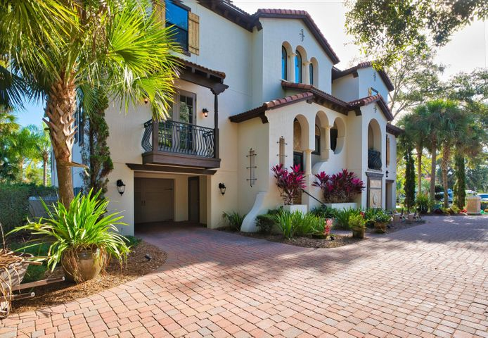 Custom 2007 Arthur Rutenberg home  w/ 100' on ICW.  Stunning home, 3 levels with elevator, high-end finishes.  Hickory floors, Granite/Marble Counters, 1st level is 10-car Garage w/wine cellar/storage.  2nd level offers Cabana & Lanai w/Fireplace & Summer Kitchen, resort style heated Salt Water Pool & Spa, Great Rm, Kitchen, two Guest Suites, Movie Rm, & Game Room w/Wet Bar.  3rd level Owner's Suite with Coffee Bar, huge closet with washer/dryer hookup, Balcony w/Fireplace, Workout Room/Office, plus two more Bedrooms w/en-suite Baths.Fabulous Chefs Kitchen has it all: extra lg. Monogram Refrigerator & Freezer, 6-burner gas GE Monogram range w/lg. & small ovens, built in GE Monogram Wall Oven and Advantium Microwave/Oven, separate Meile built-in Coffee Maker, Kitchen Aide Dishwasher drawers, plus full size GE Monogram dishwasher.  Huge granite Lazy Susan allows for the ultimate serving for your guests.  Large Great Room with gas Fireplace and separate Bar with sink, full size GE Refrigerator, & Icemaker. Concrete Dock features two 20,000lb boats lifts, Kayake Racks, and Floating Dock. THIS HOME IS CURRENTLY LEASED THROUGH JULY 2022.  SALE IS SUBJECT TO REMAINING LEASE WITH PREPAID RENT OF $7950 PER MONTH. Buyer will receive credit toward balance of remaining rent per closing date.   Note:  Home has been meticulously maintained