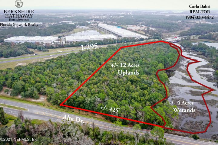 HEAVY INDUSTRIAL ZONING! Two parcels equaling approximately 15.52 acres on Alta Drive with many permitted uses. Only 18 minutes to JAX PORT-EASY ACCESSIBILITY TO I-295! Please see documents for the IH zoning for permitted uses. High Visibility makes it a great location for warehouses, industrial park, drive-thru restaurants, retail sales and services, and so much more. Over 30 acres available for development. Water, Sewer and Electrical Connections nearby but must be verified by JEA. Port Jax Warehouse facility adjacent to the property and JAXPORT in vicinity. Amazon Flex Warehouse nearby. Industrial Park along I-295 on Alta Drive is the center for warehouse, industrial and manufacturing facilities.Private Remarks: Two Parcels: 109098-0050, 109099 0010. Duval County