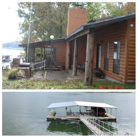 Lakeside view of home & dock.