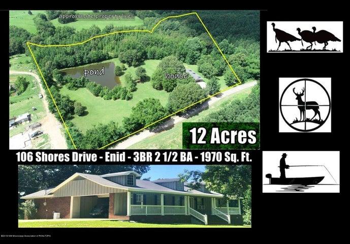 106 Shores Drive, Enid, MS 38927