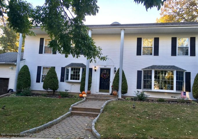 Front of this beautiful Center Hall Colonial...