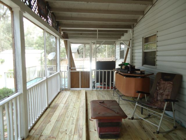 Quite large screened porch