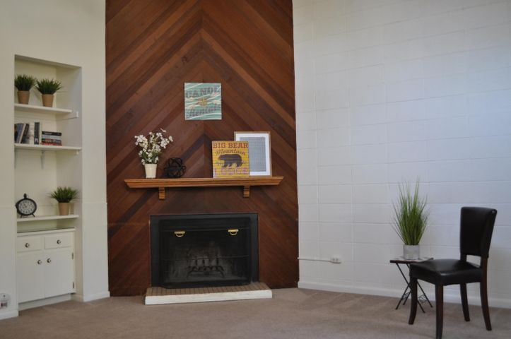 Wood Burning Fireplace in Vaulted great room