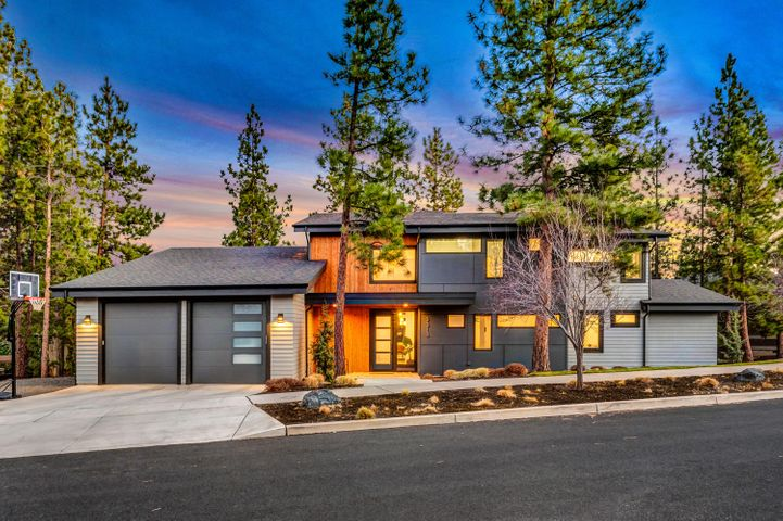 Towering windows and lofty ceilings frame this magnificent, custom built, Shevlin Ridge home with natural light and vibrant sunrises providing the perfect backdrop to your everyday life. The heart of the home is anchored by the designer kitchen with quartzite counters, oversized island and an open concept that flows effortlessly into the stunning living and dining areas. Enjoy seamless access to the captivating backyard with covered dining, multiple seating areas & custom gas fire pit. Main-level owner suite has backyard access, vaulted ceilings & multi-room closet. The main level also includes a 2nd en-suite bedroom, large mud/laundry room & spacious garage with tandem bay, 10ft garage doors & extra high ceilings for gear/toy storage. The second level opens onto an open-air bonus room, 2 beds with ample windows, a full bath & an additional home office/5th bedroom. Constructed by Leader Builders, on a peaceful, coveted cul de sac, with world class access to all your outdoor adventures.