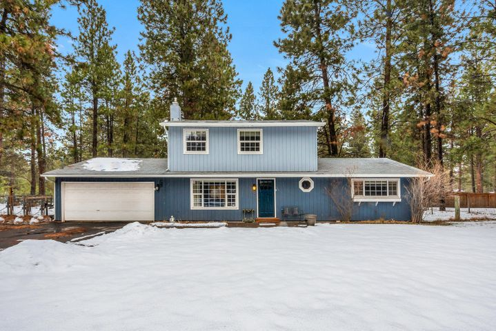 Live the dream on the Hobby Farm property in Deschutes River Woods. Nearly an acre of fenced land with room to roam, fenced and cross-fenced for pets, gardening or enjoying simple solitude. The four bedroom, two-bath house has upgraded kitchen and bathrooms, newer flooring in the main living area, and open lower level with sliding glass door that opens to a beautiful custom deck. In the warmer months the rolling lawn is surrounded by paver stones. Two-car garage with ample driveway parking Roads are paved until the short portion of Indian Summer Drive. Corner lot with lots of privacy. Large shed serves as a small area for animals or storage.