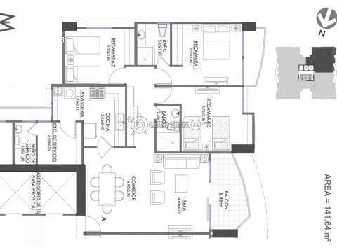 Apartamento Panama>Panama>Villa de las Fuentes - Venta:230.000 US Dollar - codigo: 15-571