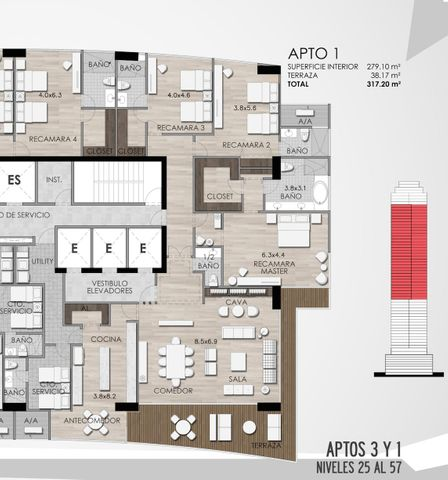 Apartamento Panama>Panama>Santa Maria - Venta:4.393.775 US Dollar - codigo: 16-1689