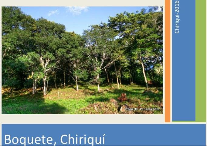 Terreno Chiriqui>Boquete>Boquete - Venta:450.000 US Dollar - codigo: 16-2227