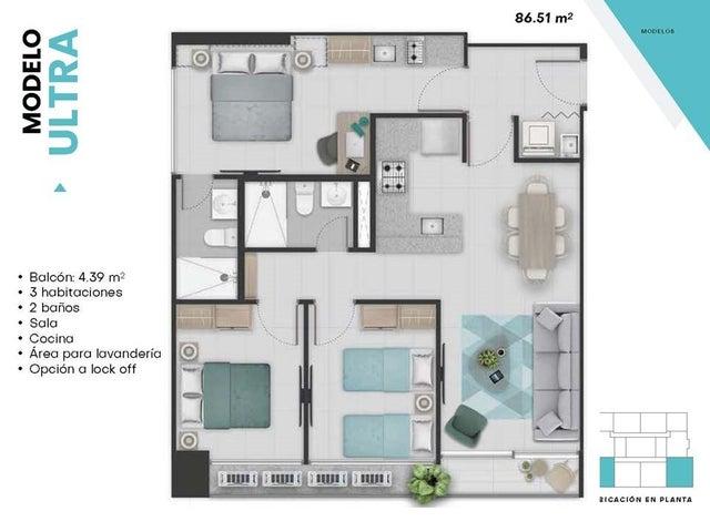 Apartamento Panama>Panama>El Cangrejo - Venta:209.695 US Dollar - codigo: 19-4104