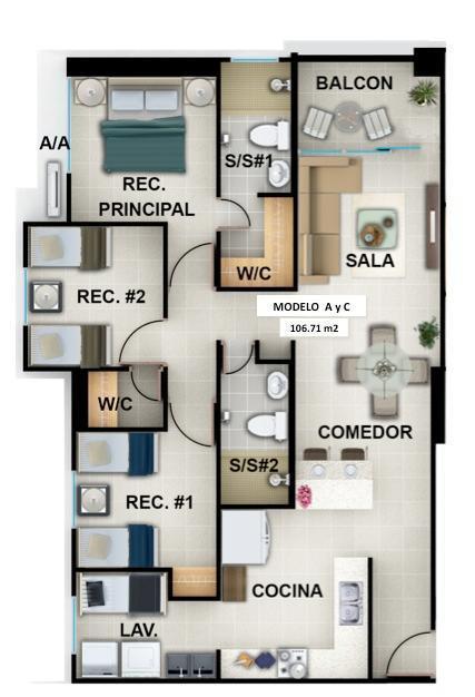 Apartamento Panama>Panama>Vista Hermosa - Venta:174.000 US Dollar - codigo: 19-3752