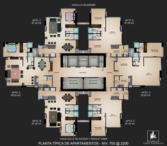 Apartamento Panama>Panama>Carrasquilla - Venta:135.172 US Dollar - codigo: 21-596