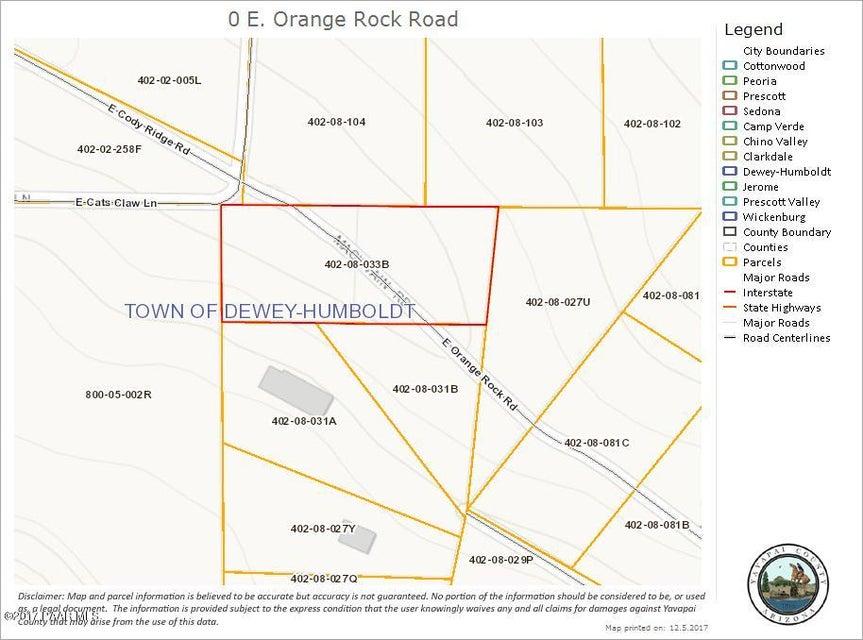 0 E Orange Rock Road Dewey-Humboldt, AZ 86327 - MLS #: 1008329