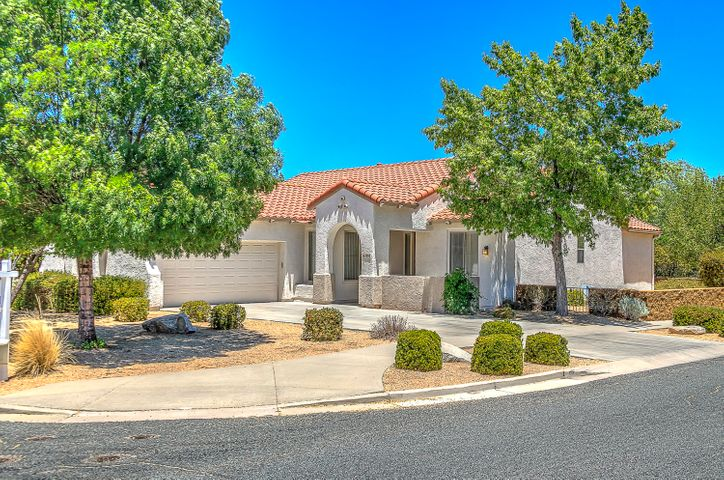 Move In Ready StoneRidge Golf Community Spanish Juniper Plan, Good Corner Location with Long Driveway, Cement Tiled Roof, Front Coffee Patio & Mature Shade Trees.