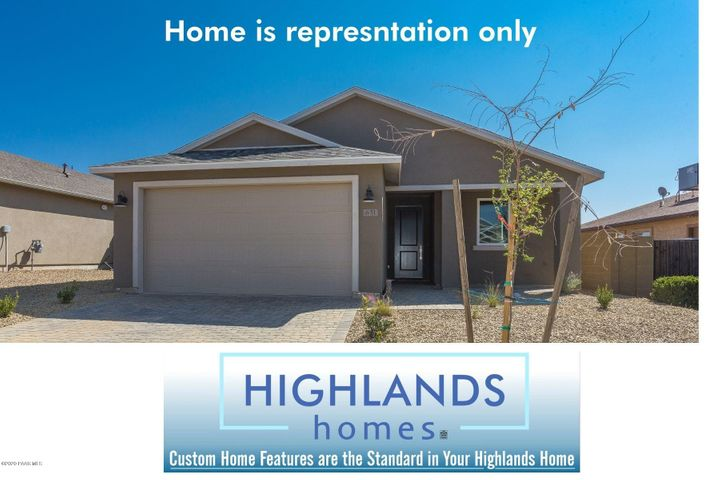 Home pictured is representation only and is not the actual home being offered.