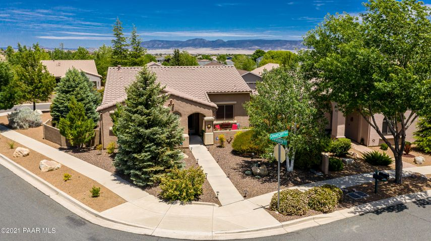 Front Aerial, Premium Corner Lot, Perfect for Morning Coffee! It's Like living in a Park and Close to the Clubhouse too!