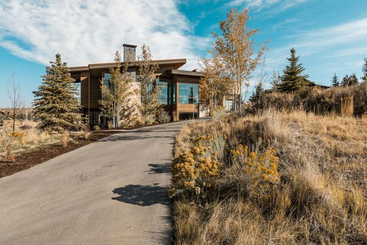 Spectacular mountain-contemporary home in Promontory's Westview neighborhood. Completed in 2018, this home is in pristine condition with only occasional owner use. Situated to capture stunning ski mountain views, this home allows lots of light and views from every room. John Shirley and Think Architecture designed this home on a prime view lot in Promontory and incorporated a convenient, open floorpan with 2BD and an office on the main level, and 3Bd and lower living space on the lower level, and a wonderful, extended and covered patio lounge space with an outdoor TV and fireplace. Offered fully furnished with a few exclusions and all furnishings will be conveyed on a separate bill of sale. Call today as this won't last long!