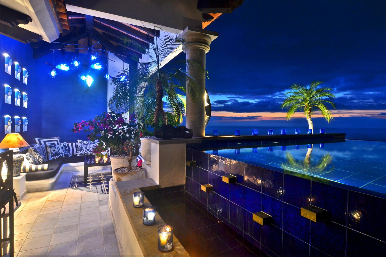 Pool Terrace & View-Evening
