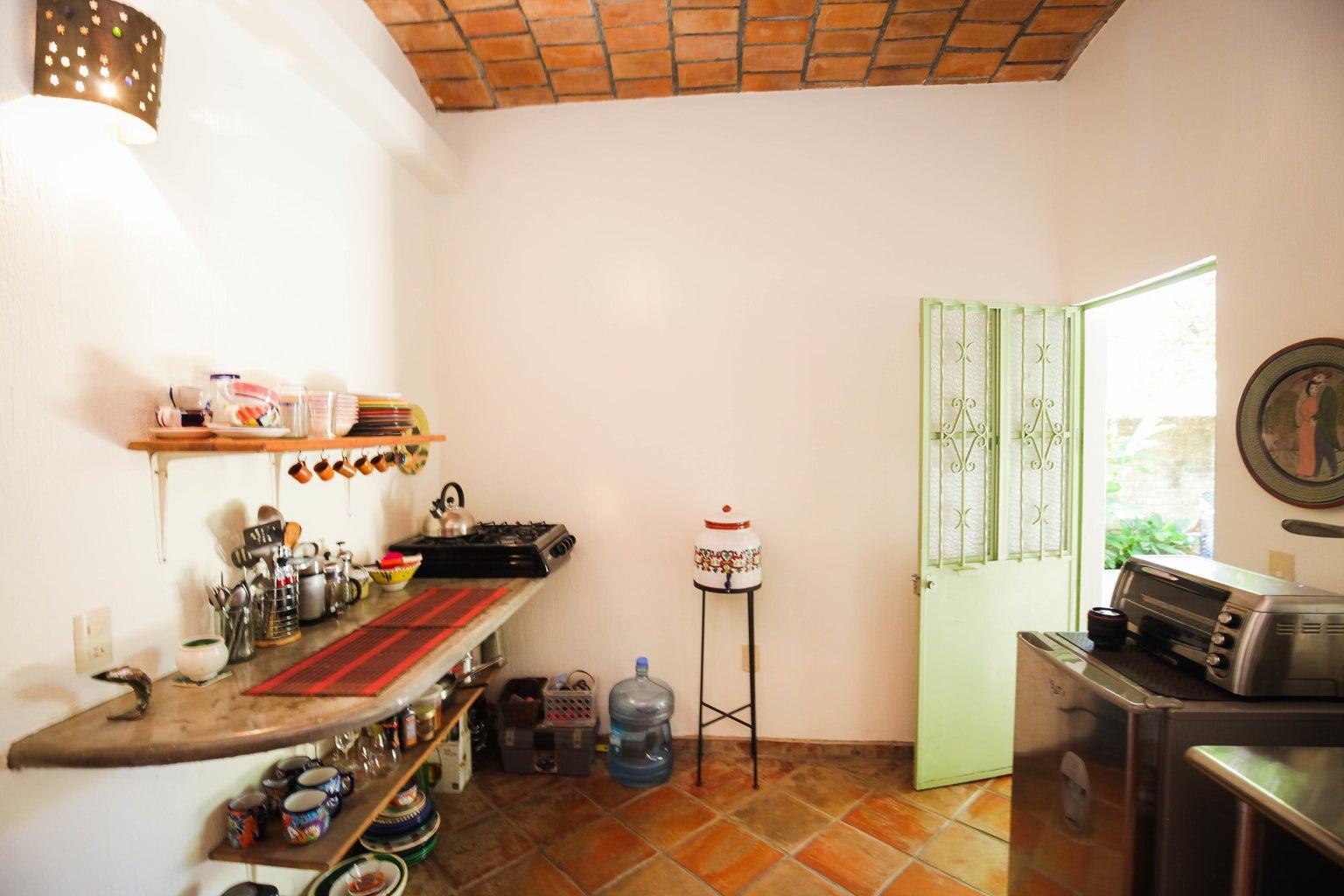 Street side building kitchen