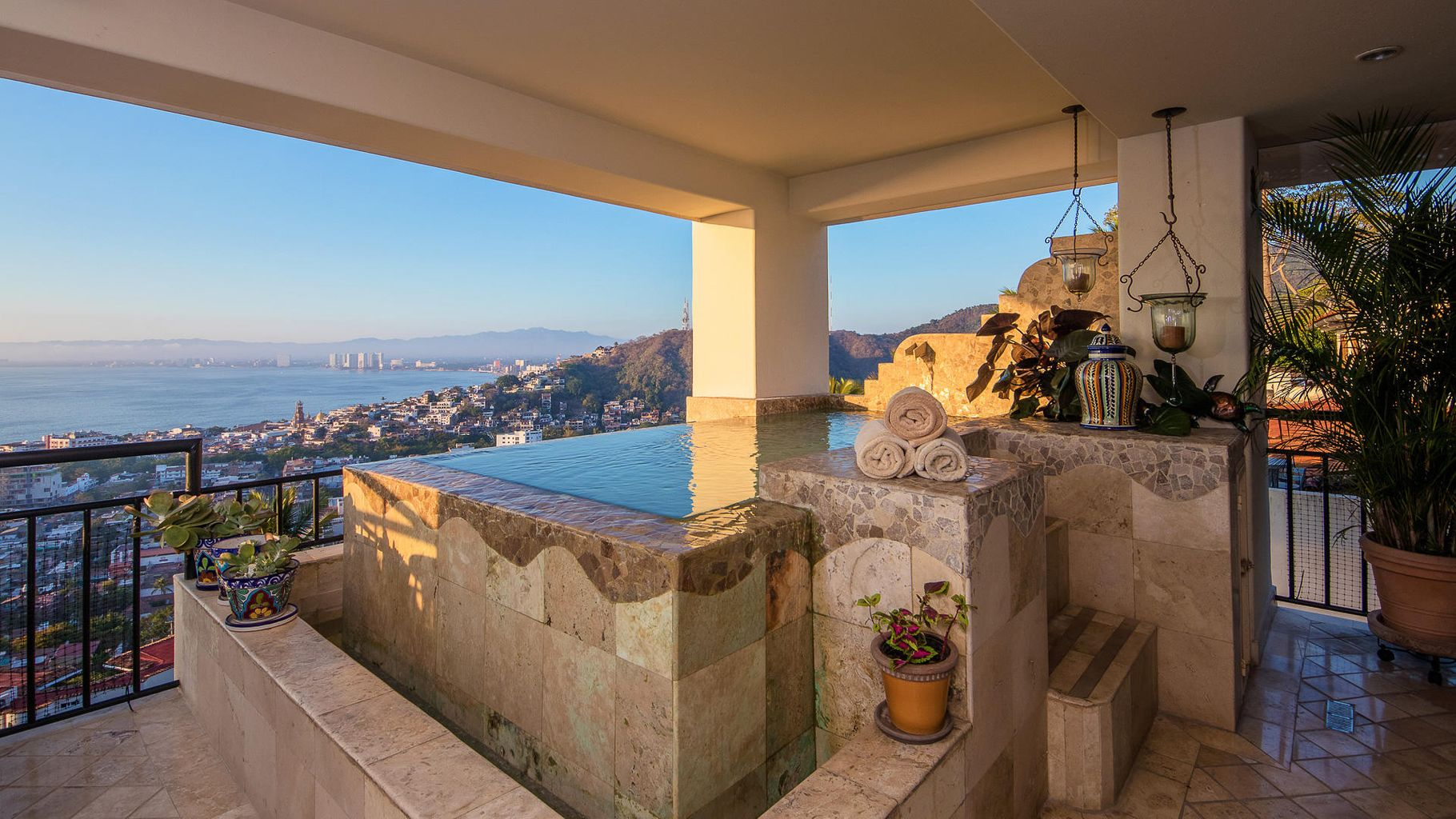 Private pool with view