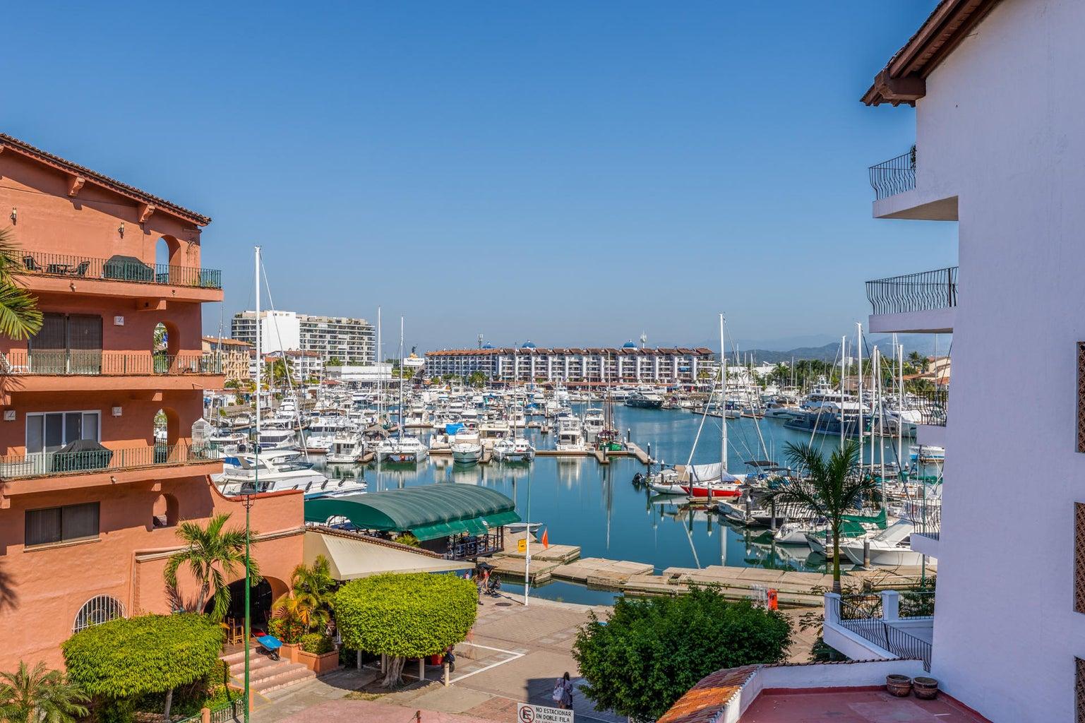 View from Balcony into Marina