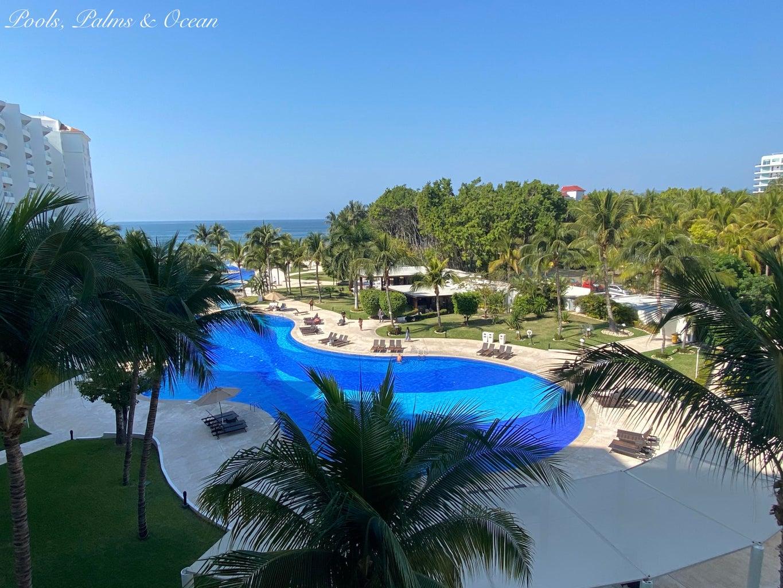 Pool, Palms & Ocean