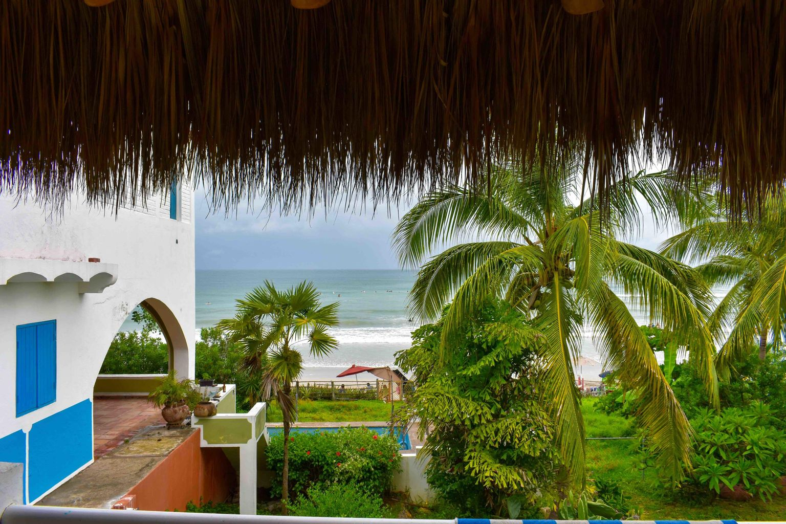 Beachfront from the palapa